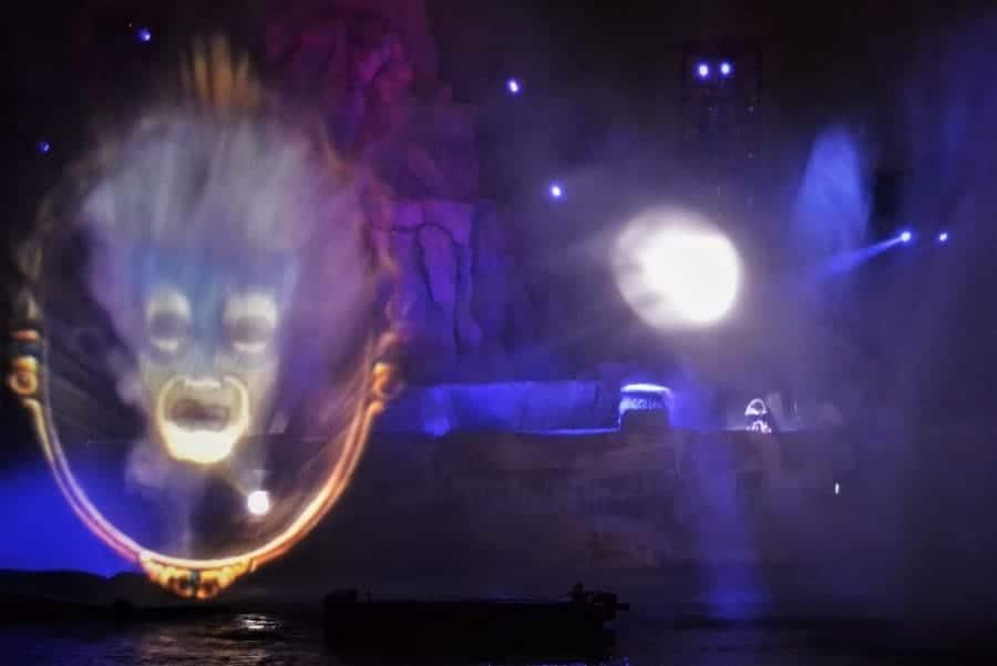 scary moments in Fantasmic