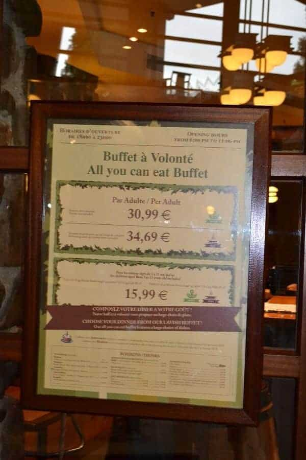Sequoia lodge buffet