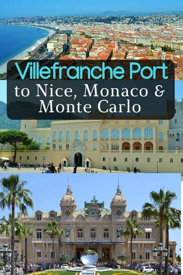 Going from Villefranche to Nice, Monte Carlo and Monaco