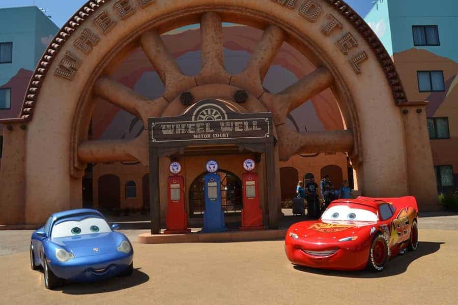 Cars themed area in Art of Animation Resort