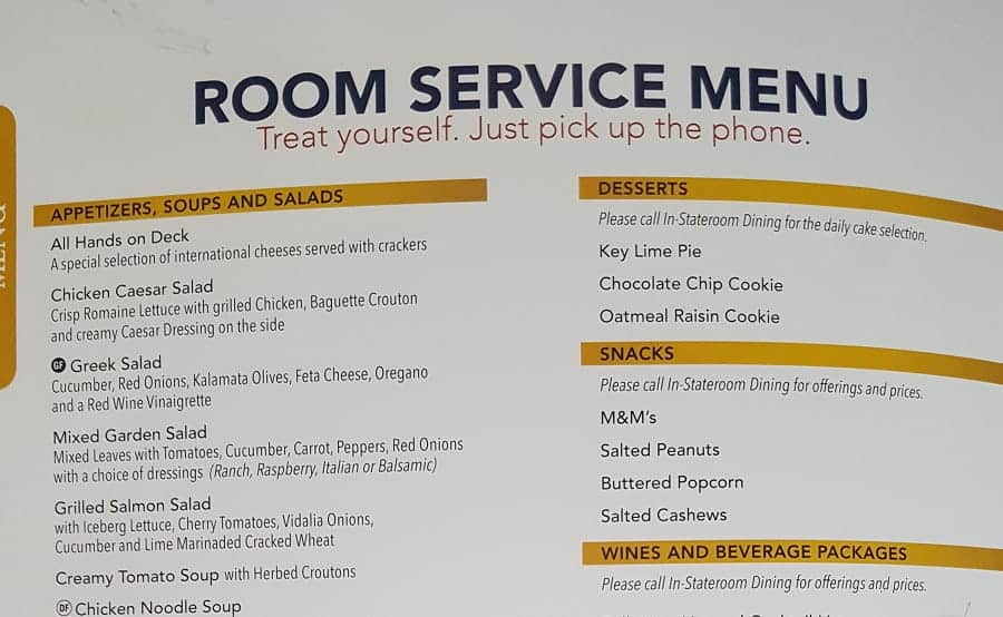 Disney Cruise Room Service Tips