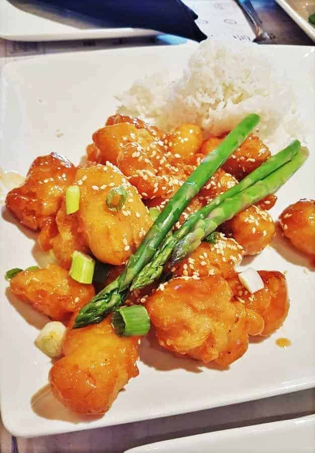 Sesame Chicken at Nine Dragons