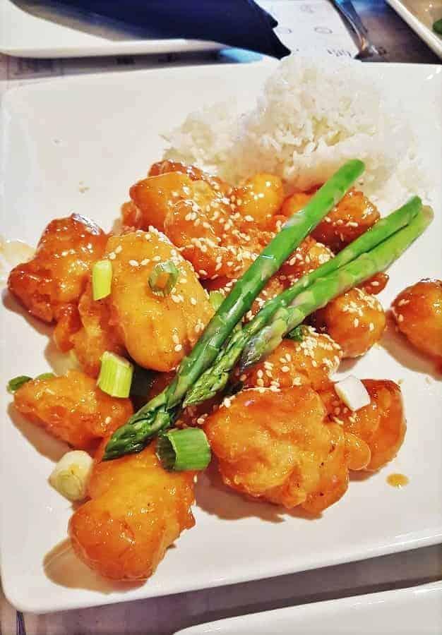 Sesame Chicken at Nine Dragons
