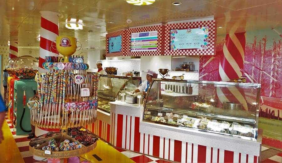 Inside Vanelope's Sweet and Treats on the Disney Dream