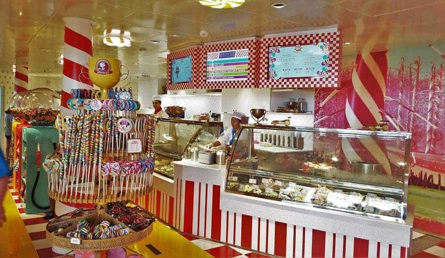 Inside Vanelope's Sweet and Treats on the Disney Dream