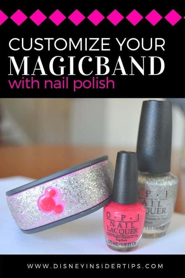 Disney MagicBand Customization with Nail Polish