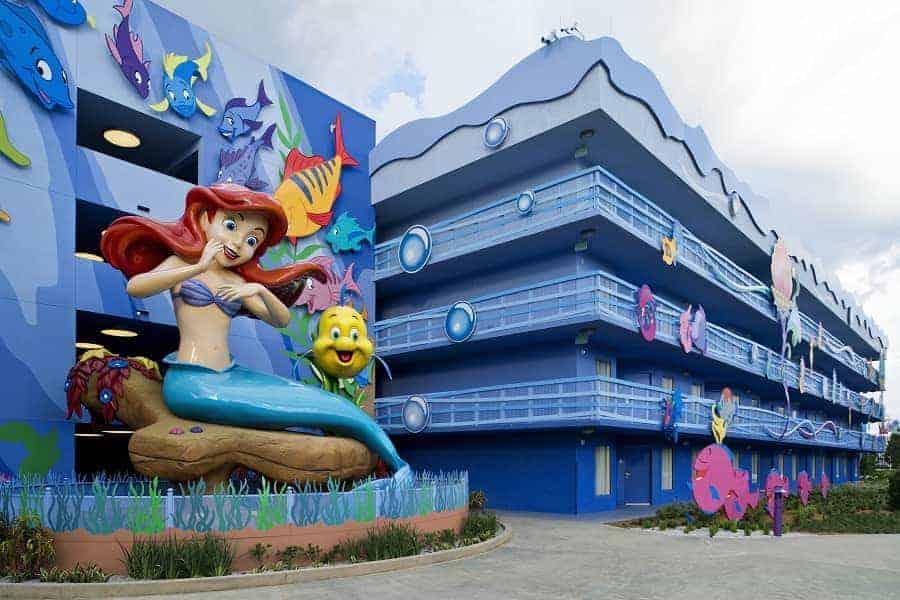 Little Mermaid wing of Art of Animation