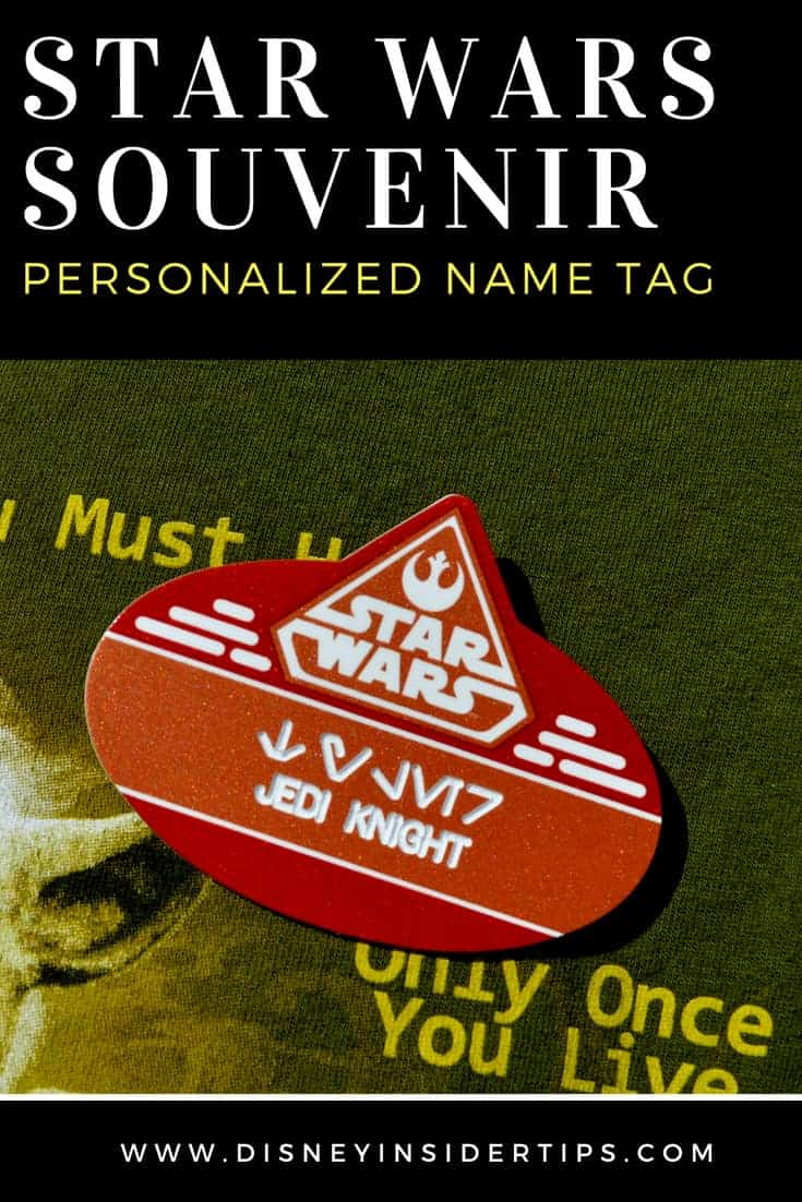 Star Wars Souvenir: Personalized Name Tags