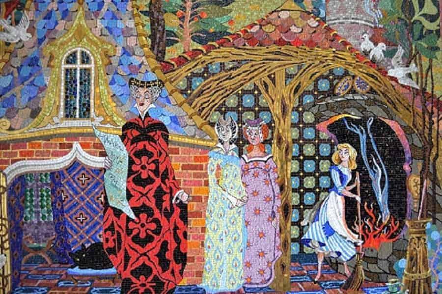 Cinderella & Step Sisters Mosaic