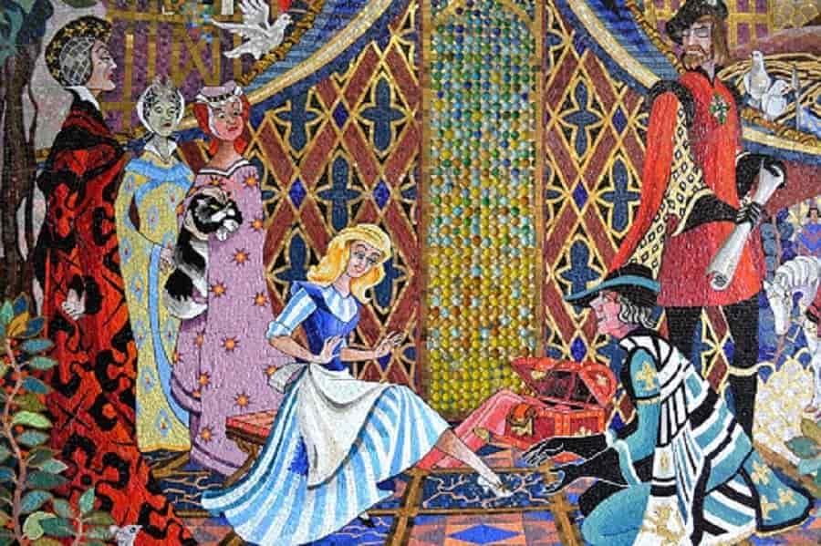Cinderella Mosaics inside Castle