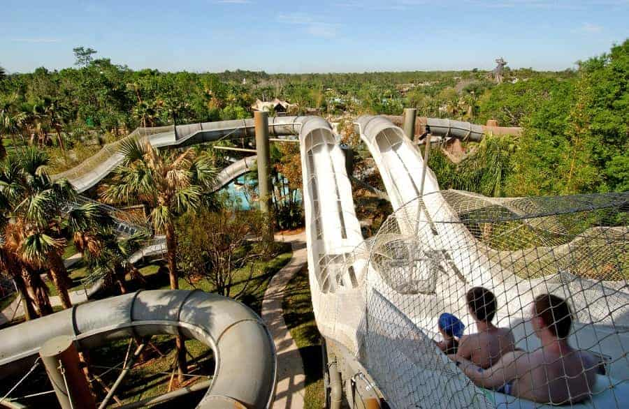 Crush 'n' Gusher, a roller-coaster-like raft ride at Disney's Typhoon Lagoon Water Park