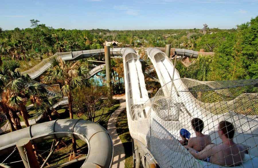Crush 'n' Gusher, a roller-coaster-like raft ride at Disney's Typhoon Lagoon Water Park