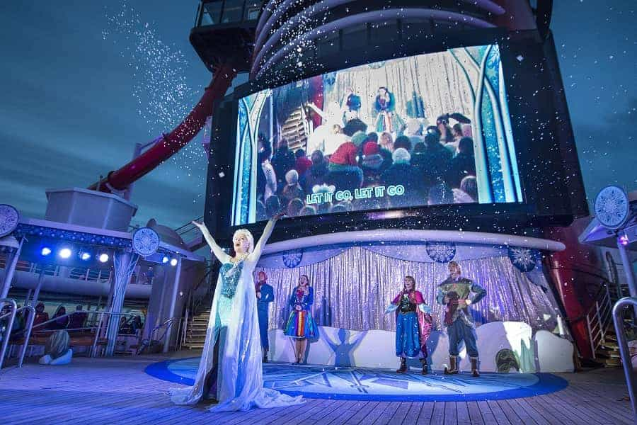 Frozen on board Disney Northern Europe Cruise