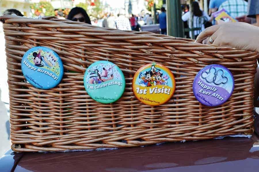 Disney Celebratory Buttons