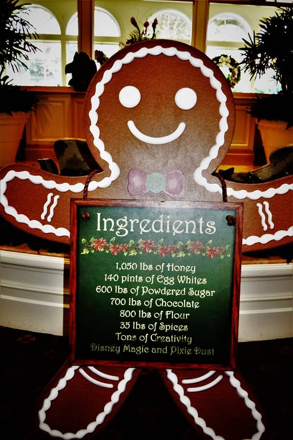 Grand Floridian Gingerbread House Ingredients