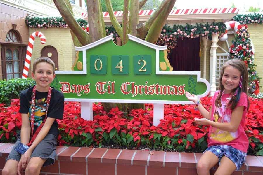 Disney Christmas Countdown Display