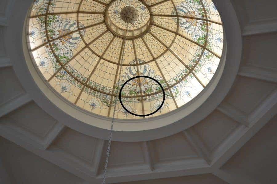 Hidden Mickey in Dome of Grand Floridian