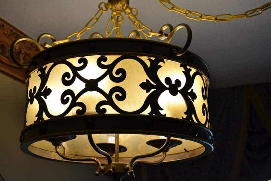 Port Orleans Royal Rooms Light Fixture with hidden Mickeys