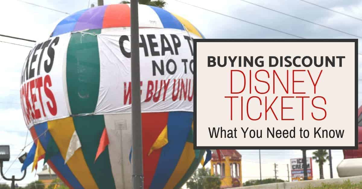 Discount Disney Tickets (What you need to know)