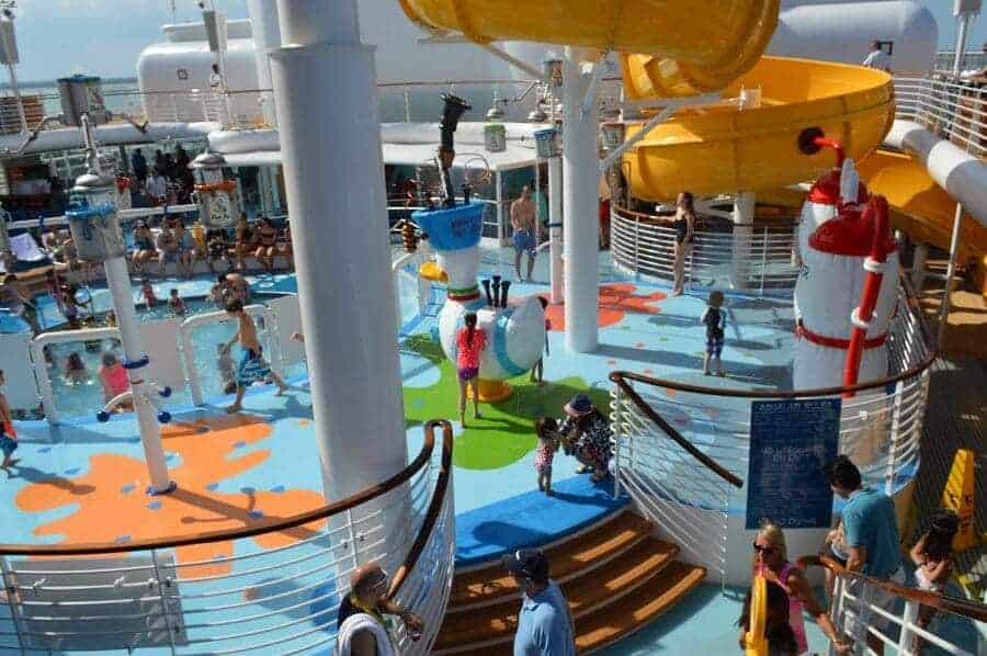 Splash Zone on the Disney Wonder