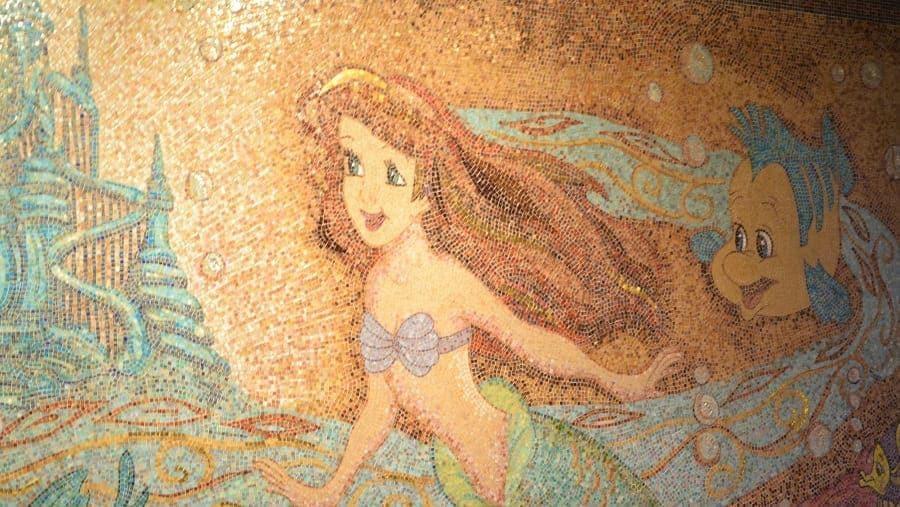Ariel Mosaic Mural on Disney Wonder
