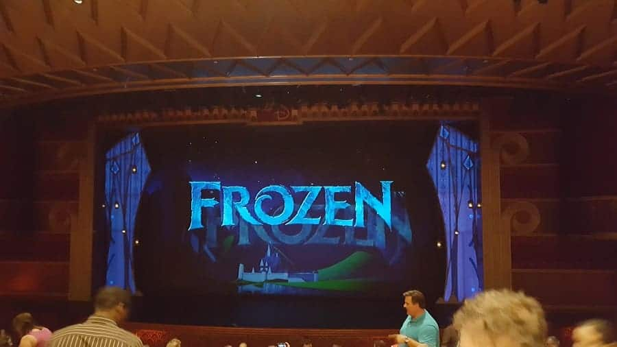 Frozen Show on Disney Wonder