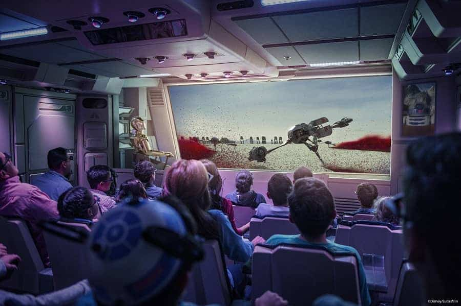 Star Tours ride in Hollywood Studios