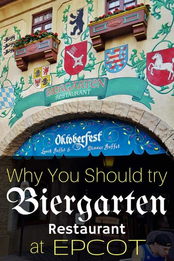 Biergarten Restaurant in the Germany Pavilion