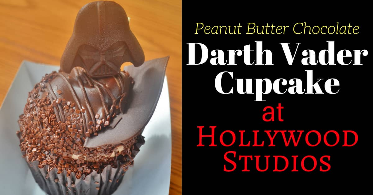 Darth Vader Peanut Butter Chocolate Cupcake