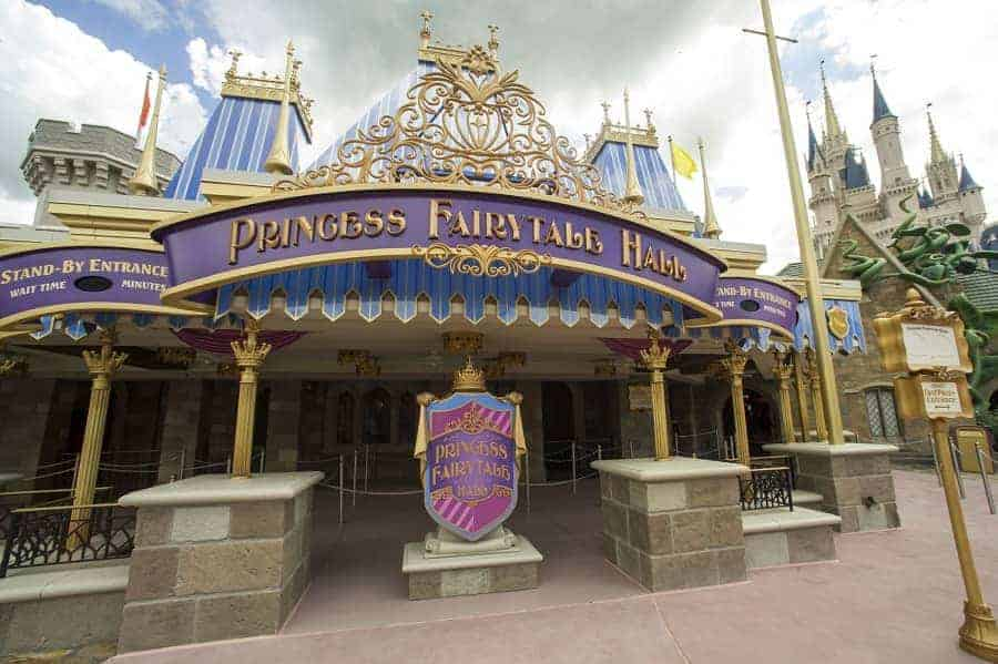 Entrance to Fairytale Hall in Magic Kingdom