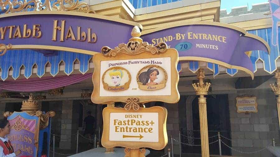 Disney Fairytale Hall in Magic Kingdom