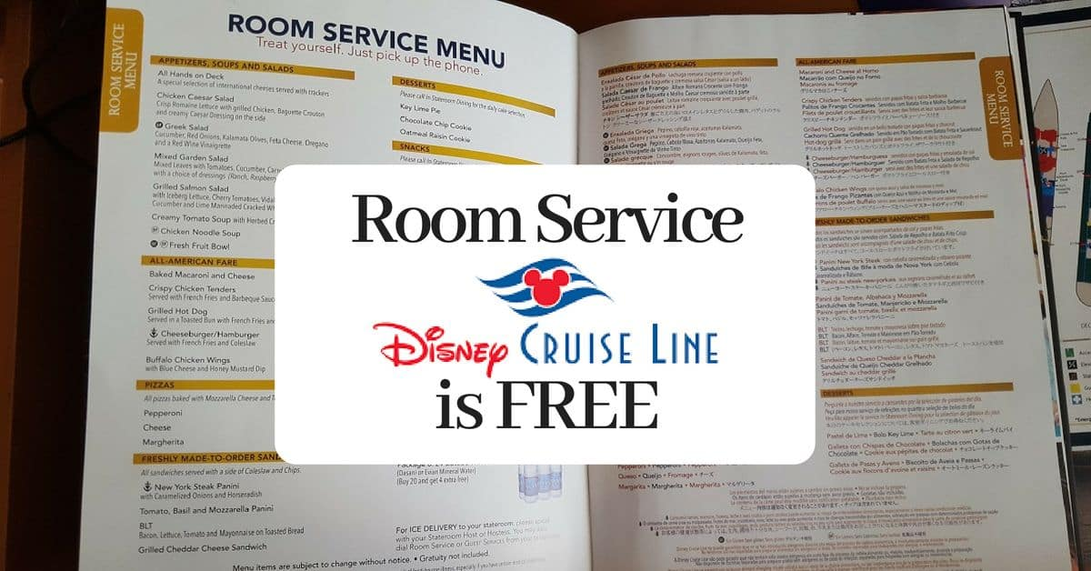 Room Service on a Disney Cruise
