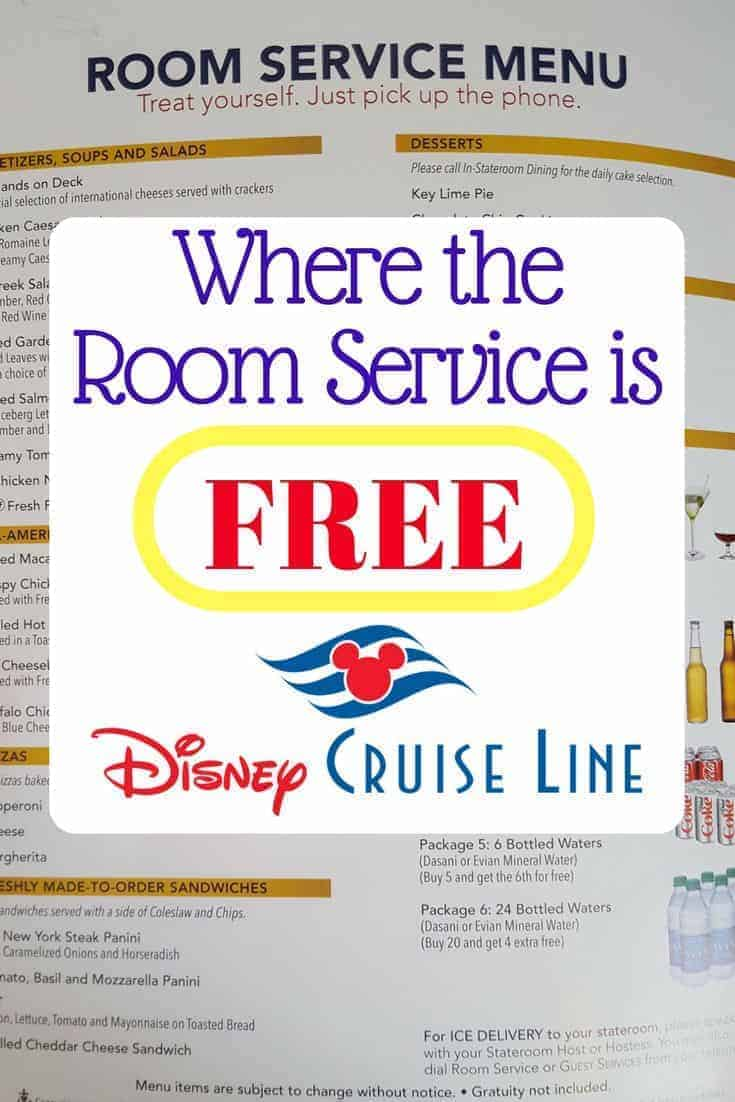 FREE Disney Cruise Room Service (Menu Available) | Disney