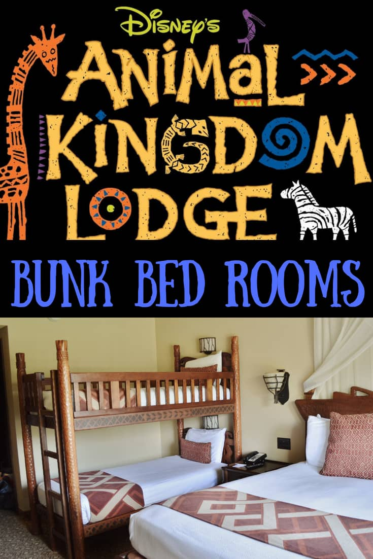 Animal Kingdom Lodge Savannah View Rooms with Bunk Beds