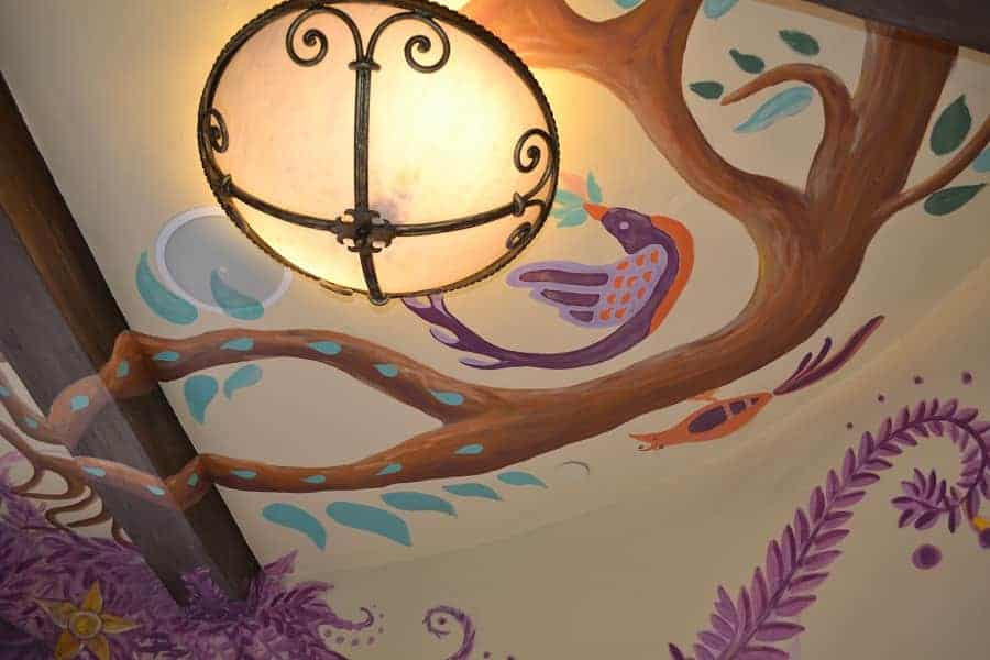 Tangled area bathroom ceiling