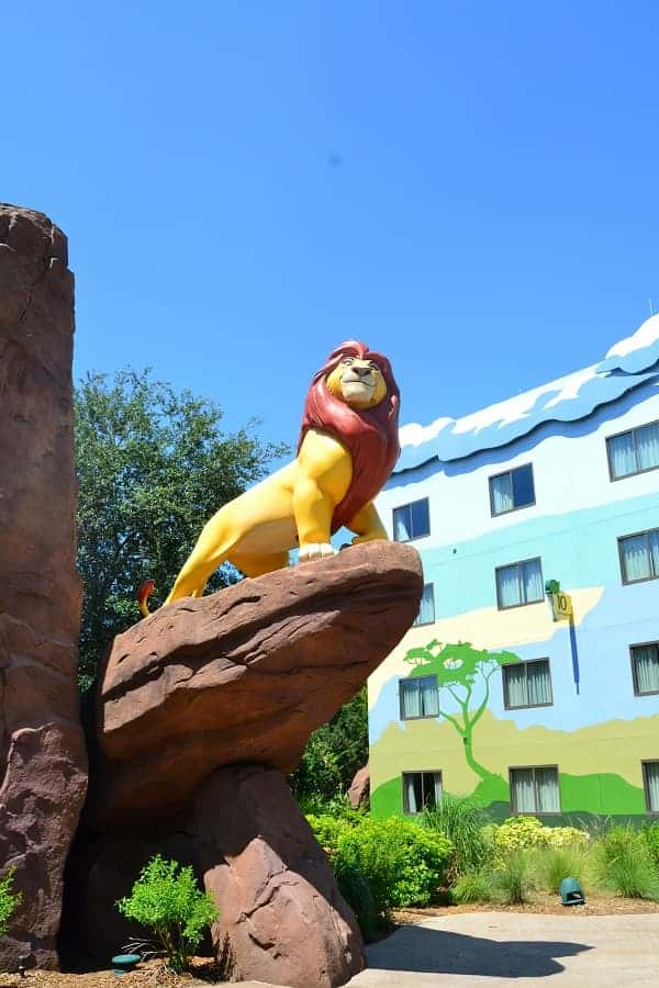 Lion King Rooms at Art of Animation