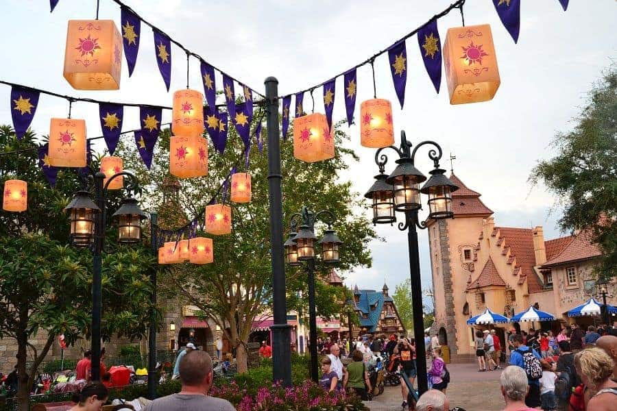 Floating Lanterns near Rapunzel's Tower