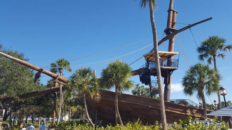 Pirate Ship Pool at Beach Club Resort