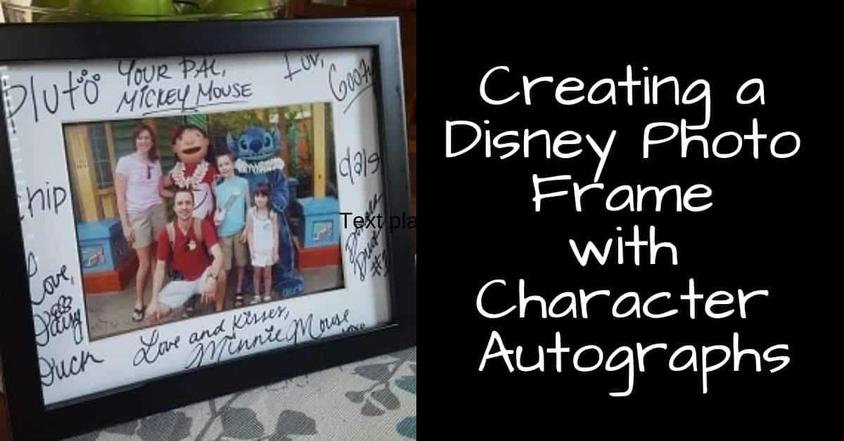 Disney Photo Frame with autographs