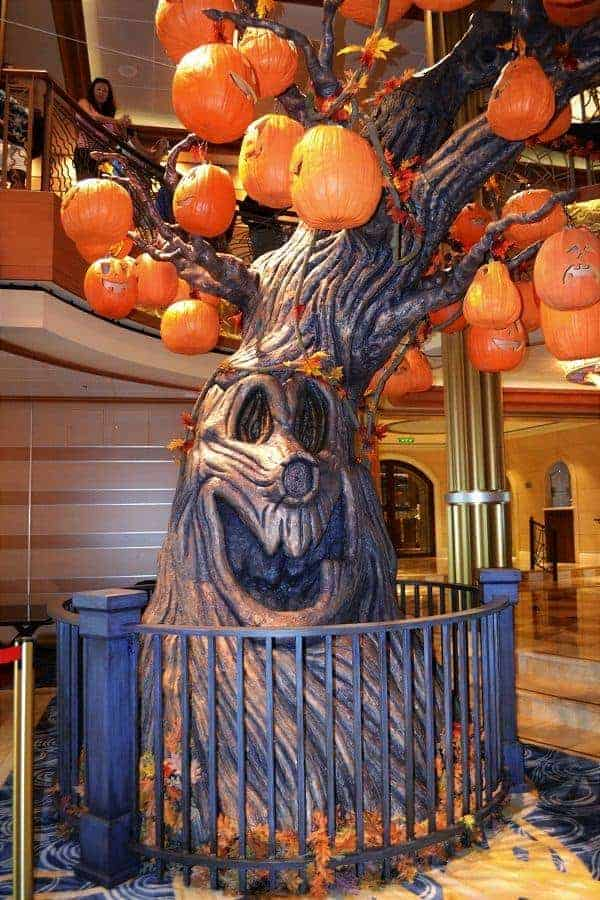 Disney Halloween Cruise Pumpkin Tree
