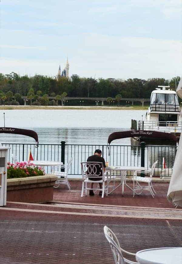 View of Cinderella Castle from Grand Floridian Resort