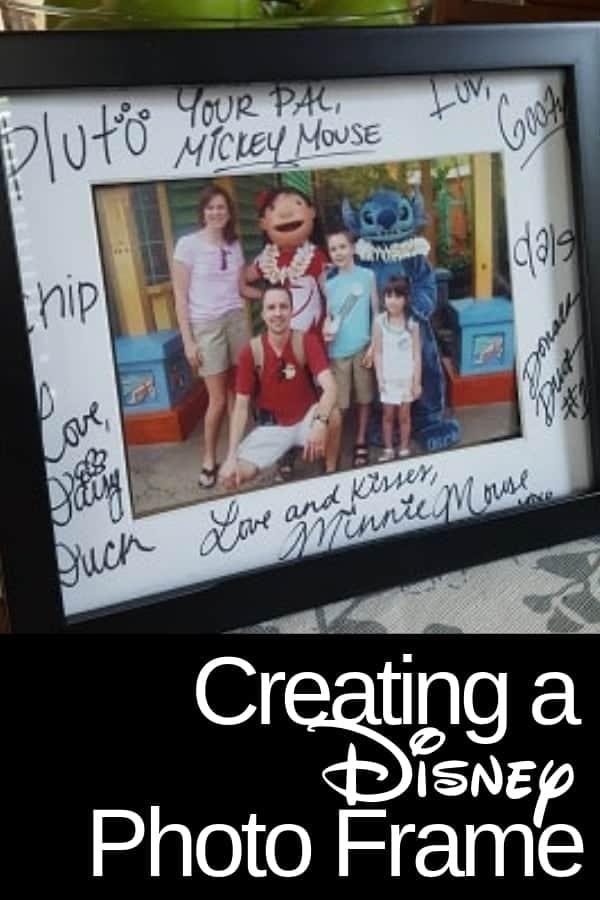 Disney Character Autographs on Photo Mats