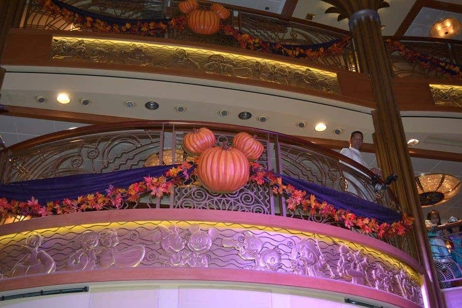 Decorations on the Halloween Cruise