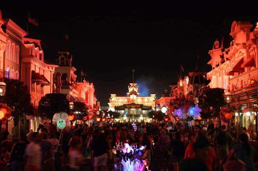 Disney World Halloween Party at Night