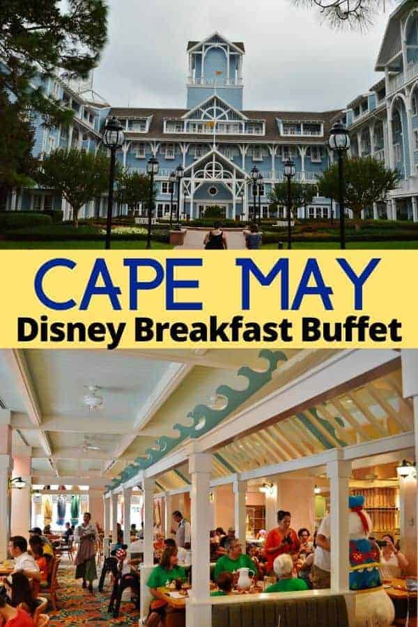 Cape May Disney Breakfast Buffet