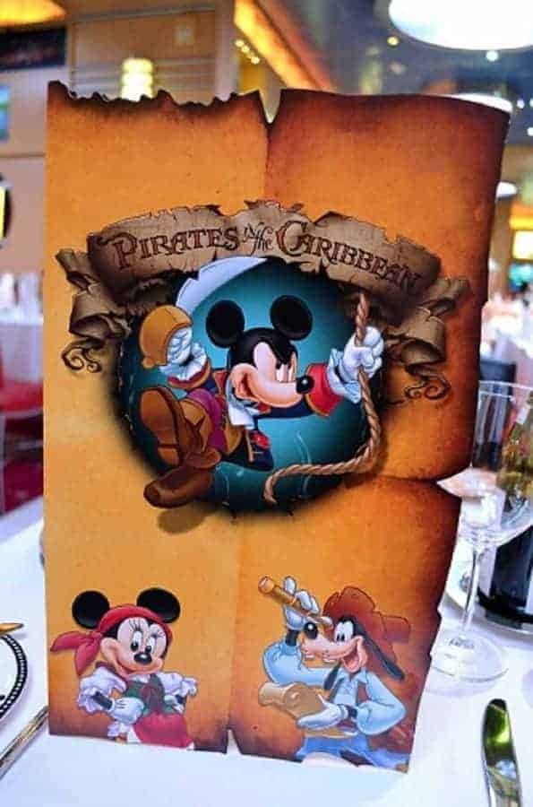 Pirate Night Cruise Menu