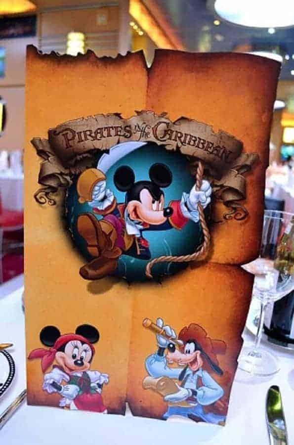 Pirate Night Cruise Menu