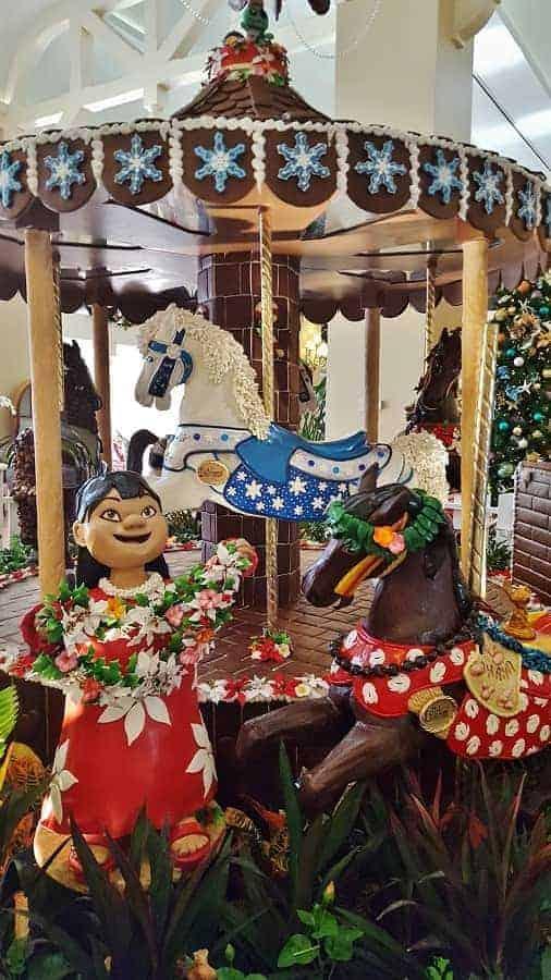 Beach Club Resort Gingerbread Carousel Display
