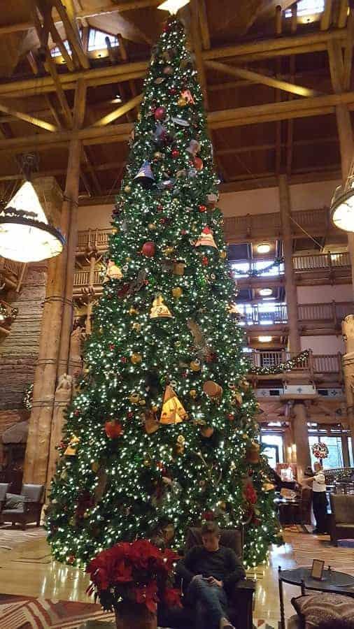 Wilderness Lodge Resort Christmas Tree