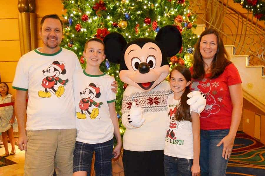 Disney Christmas Cruise Meet & Greet with Mickey Mouse